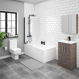 Brooklyn Grey Avola Bathroom Suite