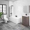 Brooklyn Grey Avola Bathroom Suite profile small image view 1