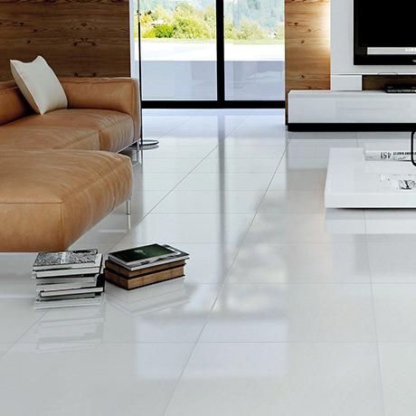 Bright White Porcelain Floor Tile - 600 x 600mm