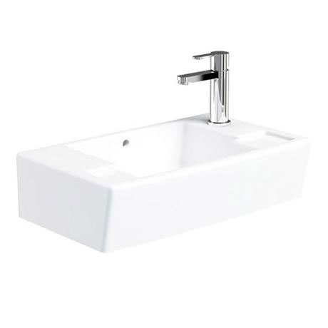 Britton Bathrooms - Deep Cloakroom Washbasin - Left or Right Handed Option