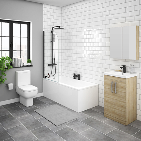 Brooklyn Natural Oak Bathroom Suite