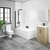 Brooklyn Natural Oak Bathroom Suite profile small image view 1
