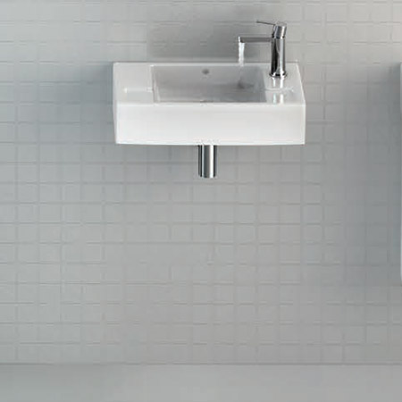 Britton Bathrooms - Deep Cloakroom Washbasin - Left or Right Handed Option Profile Large Image