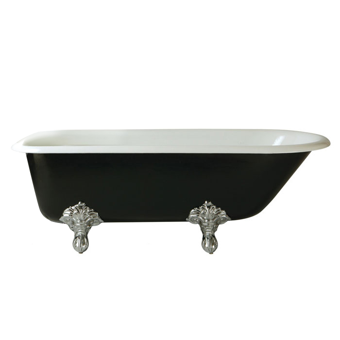 Heritage Essex 0TH Roll Top Cast Iron Bath (1700x770mm) with Feet Large Image