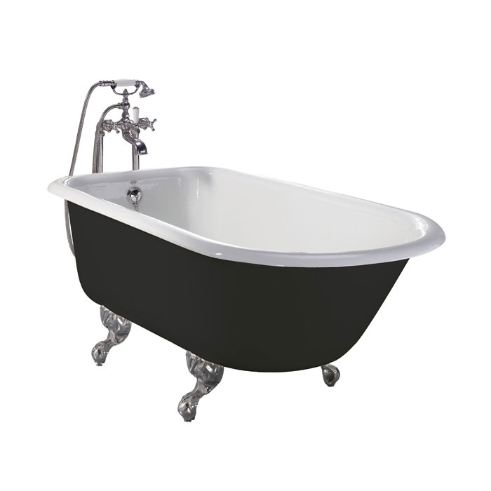 Heritage Wessex 0TH Slipper Cast Iron Bath (1540x770mm) with Feet Large Image