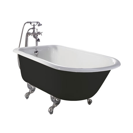 Heritage Wessex 2TH Slipper Cast Iron Bath (1540x770mm) with Feet
