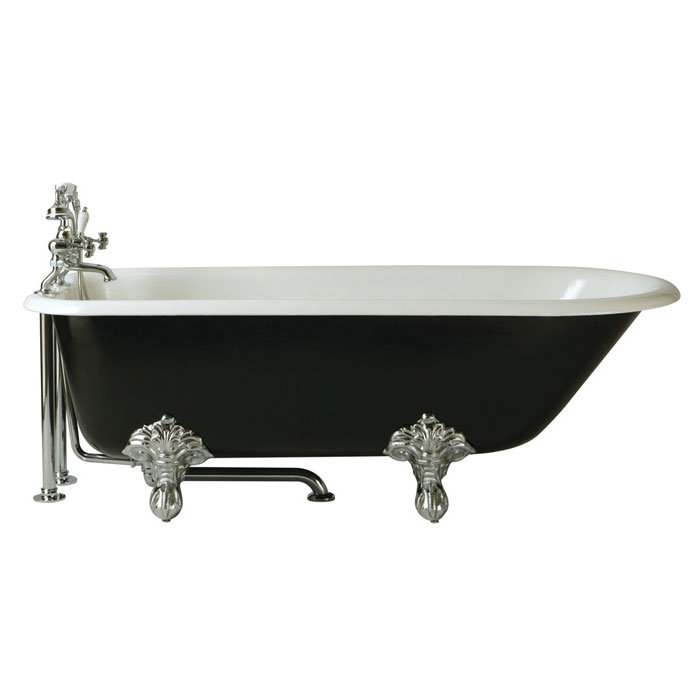 Heritage Essex 2TH Roll Top Cast Iron Bath (1700x770mm) with Feet Large Image