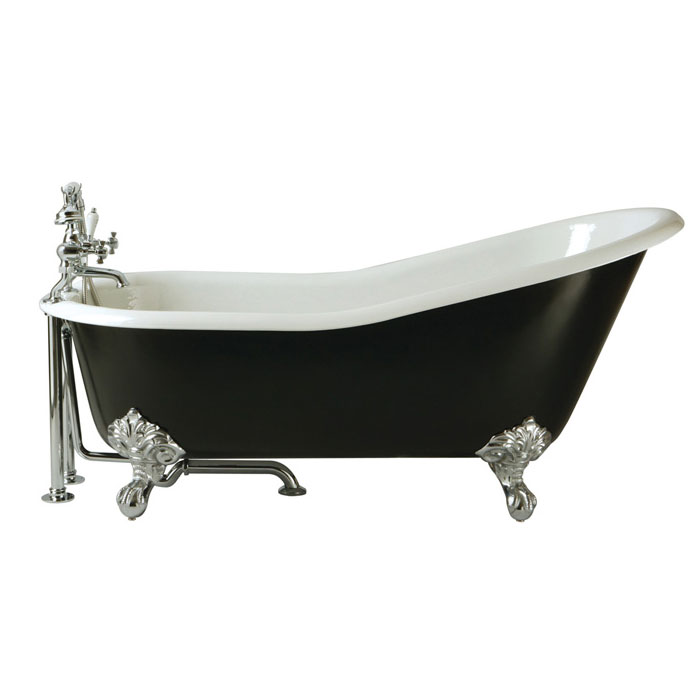 Heritage Hampshire 2TH Slipper Cast Iron Bath (1700x780mm) with Feet