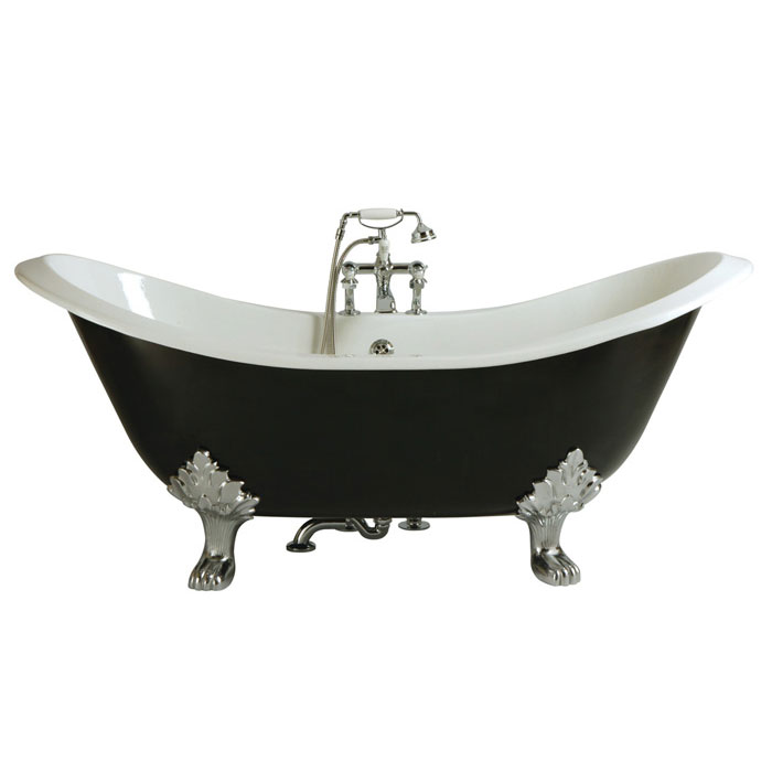 Heritage Devon Double Ended Slipper Cast Iron Bath (1800x770mm) with Feet Large Image