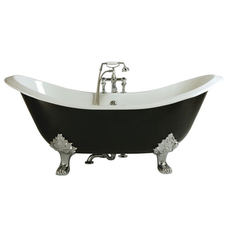 Heritage Devon Double Ended Slipper Cast Iron Bath (1800x770mm) with Feet