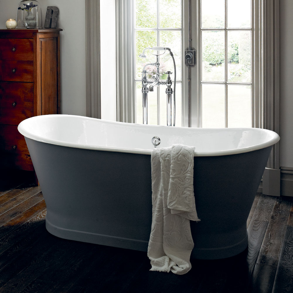 Heritage Madeira Double Ended Cast Iron Bath (1700x695mm) Profile Large Image