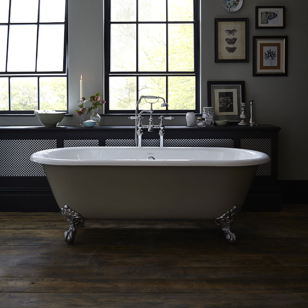Heritage Buckingham Roll Top Cast Iron Bath (1700x770mm) with Feet profile large image view 3