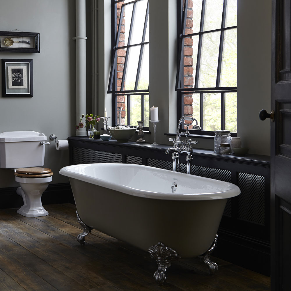 Heritage Buckingham Roll Top Cast Iron Bath (1700x770mm) with Feet profile large image view 4