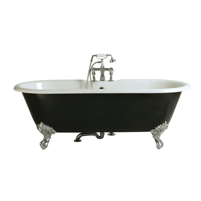 Heritage Buckingham Roll Top Cast Iron Bath (1700x770mm) with Feet Large Image