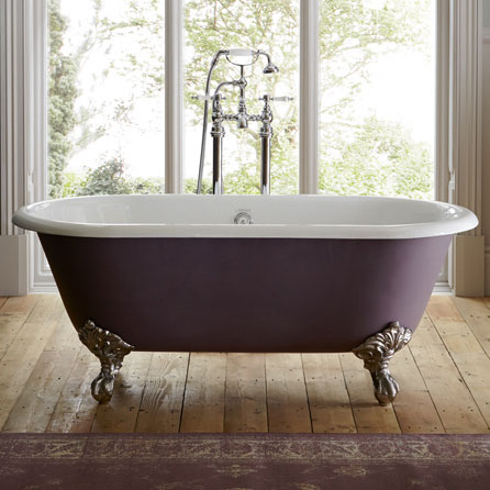 Heritage Baby Buckingham Roll Top Cast Iron Bath (1540x780mm) with Feet profile large image view 3