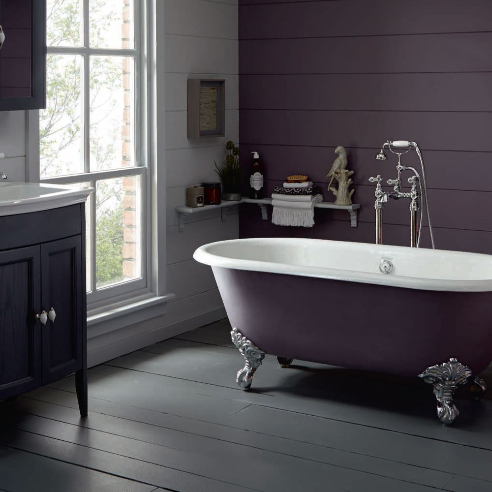 Heritage Baby Buckingham Roll Top Cast Iron Bath (1540x780mm) with Feet profile large image view 4