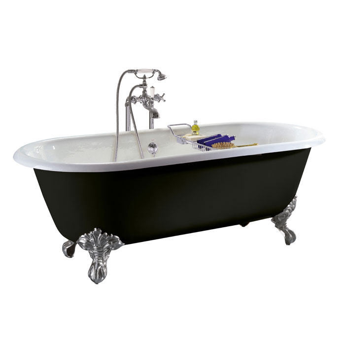 Heritage Baby Buckingham Roll Top Cast Iron Bath (1540x780mm) with Feet Large Image
