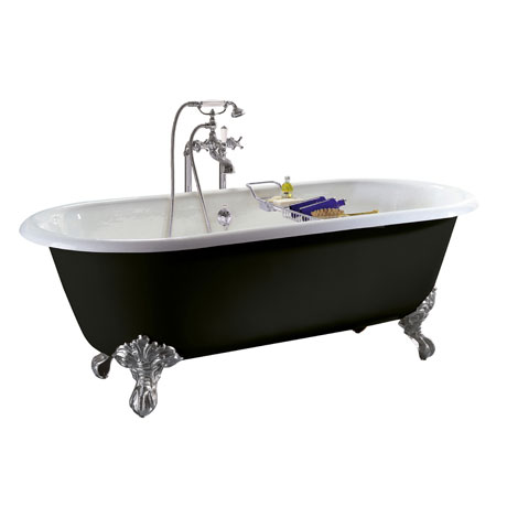 Heritage Baby Buckingham Roll Top Cast Iron Bath (1540x780mm) with Feet