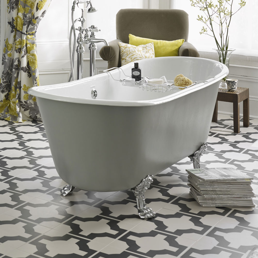 Heritage Porto Santo Bateau Double Ended Cast Iron Bath (1700x680mm) with Feet profile large image view 3