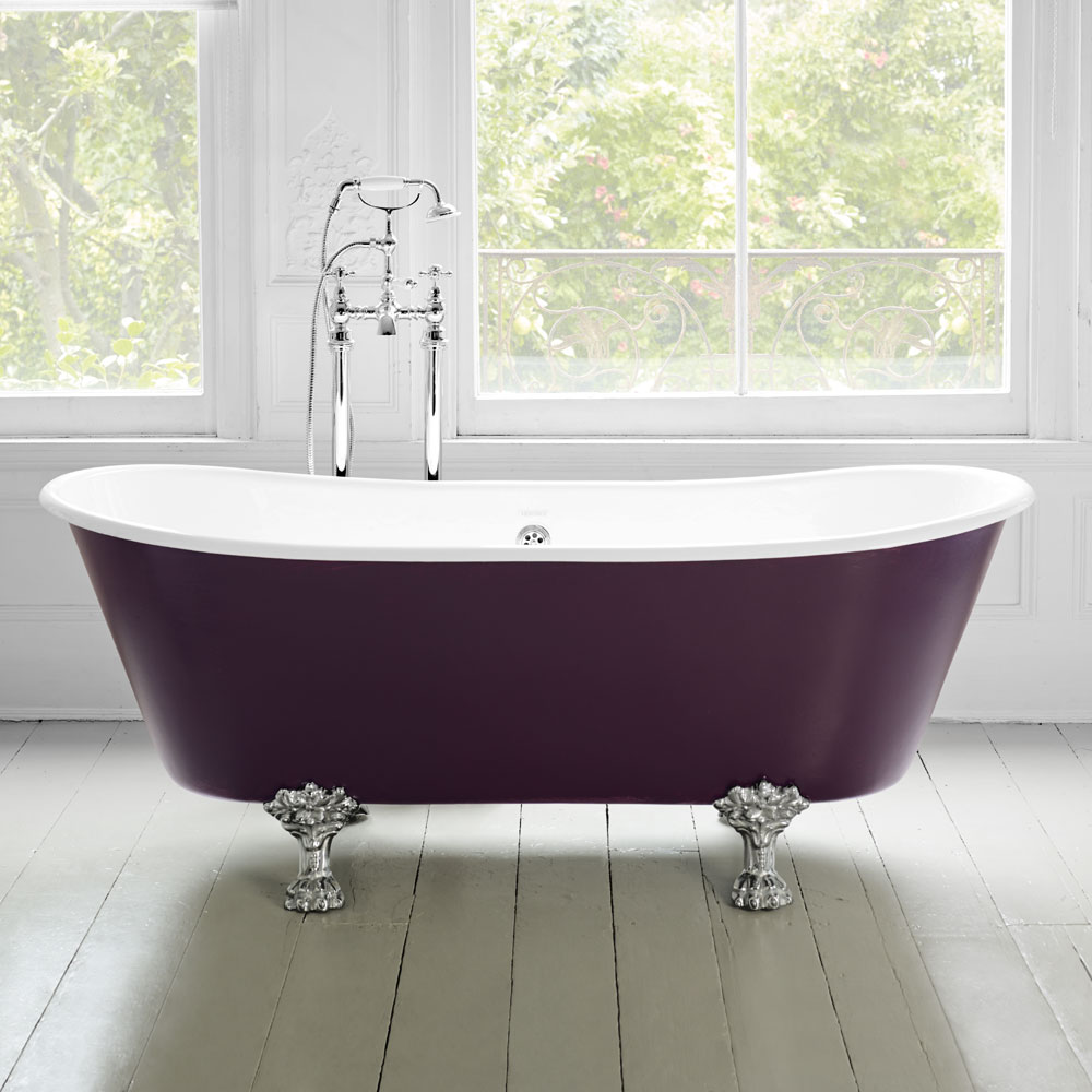 Heritage Porto Santo Bateau Double Ended Cast Iron Bath (1700x680mm) with Feet profile large image view 4