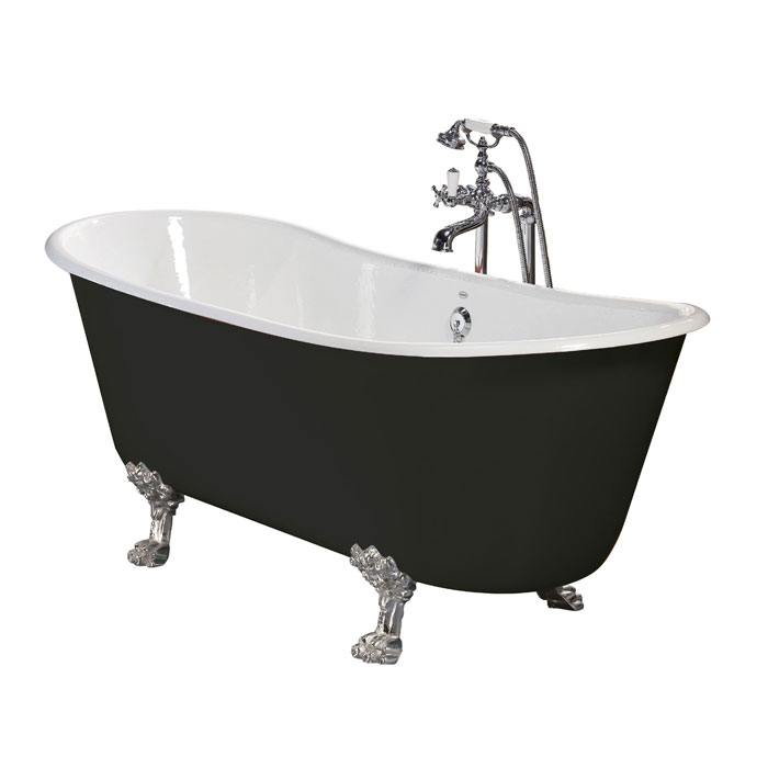 Heritage Porto Santo Bateau Double Ended Cast Iron Bath (1700x680mm) with Feet Large Image