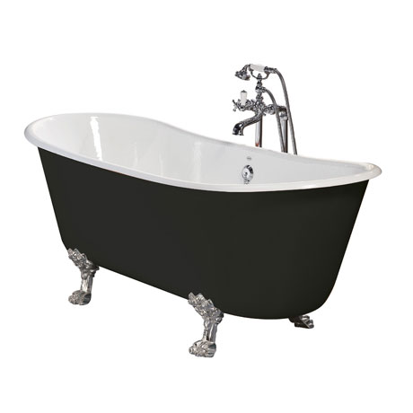 Heritage Porto Santo Bateau Double Ended Cast Iron Bath (1700x680mm) with Feet