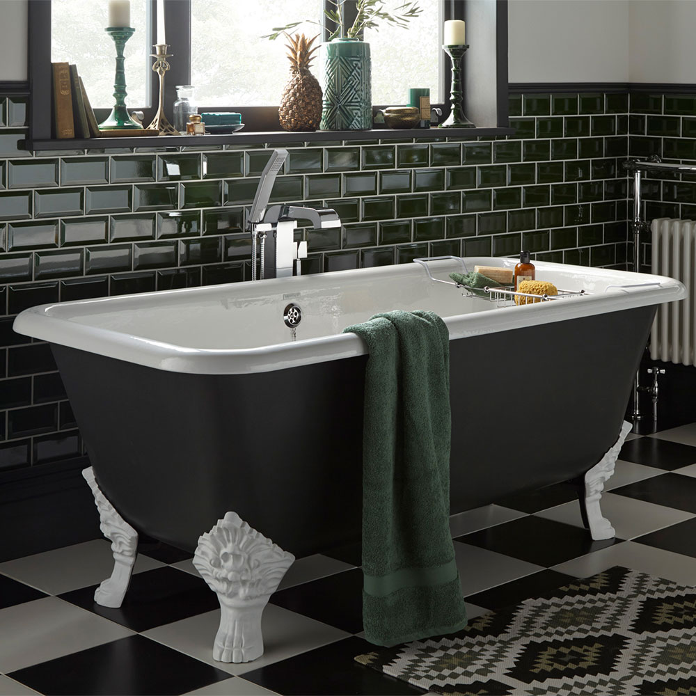 Heritage Dorset Double Ended Cast Iron Bath (1700 x 810mm) with Feet Feature Large Image