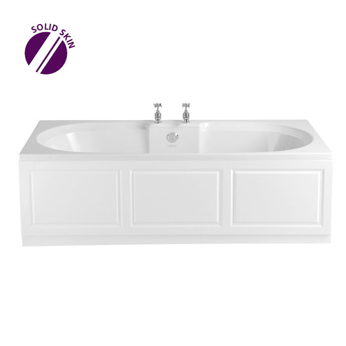 Heritage Dorchester Double Ended Bath with Solid Skin (1800x800mm) Large Image