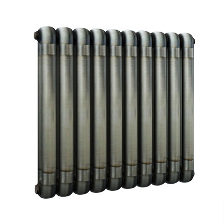 Buxton 600 x 615mm Raw Metal (Lacquered) 2 Column Horizontal Radiator