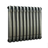Buxton 600 x 615mm Raw Metal (Lacquered) 2 Column Horizontal Radiator profile small image view 1