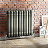 Buxton 600 x 615mm Raw Metal (Lacquered) 2 Column Horizontal Radiator profile small image view 1