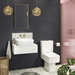 Brooklyn Modern Square Toilet with Soft Close Seat profile small image view 7