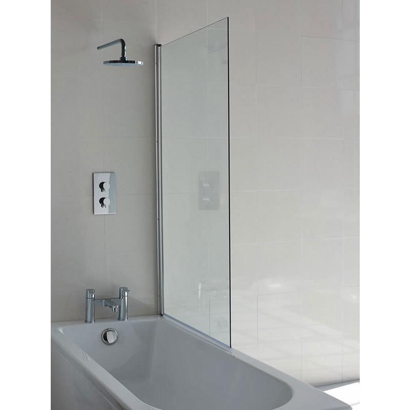 Britton Bathrooms - 850mm Single Panel Bathscreen - BS1 Large Image
