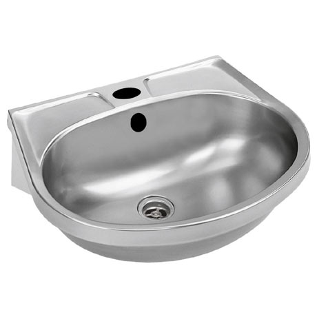 Franke BS205-M Stainless Steel Washbasin with Overflow, Single Tap Hole and Plug & Chain