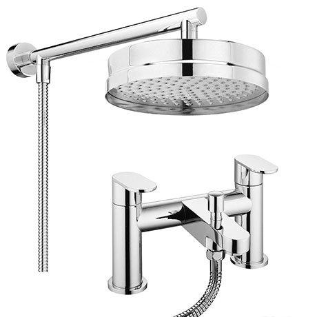 Bosa Modern Bath Shower Mixer Inc. Overhead Rainfall Shower Head