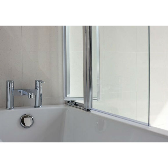 Britton Bathrooms - 850mm Bathscreen with Access Panel - BS3 Profile Large Image