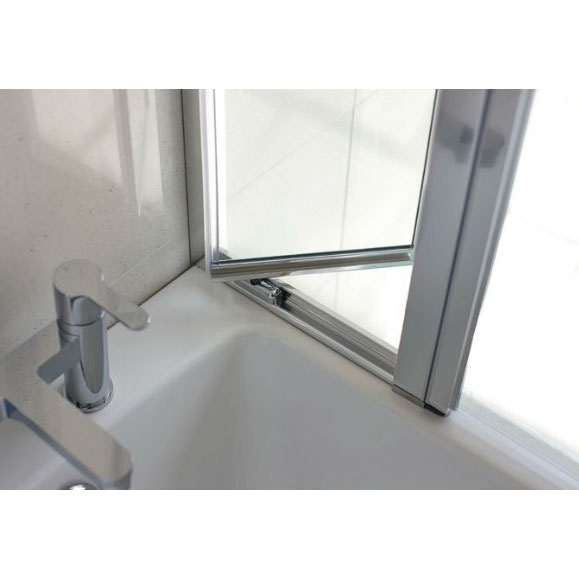 Britton Bathrooms - 850mm Bathscreen with Access Panel - BS3 profile large image view 3