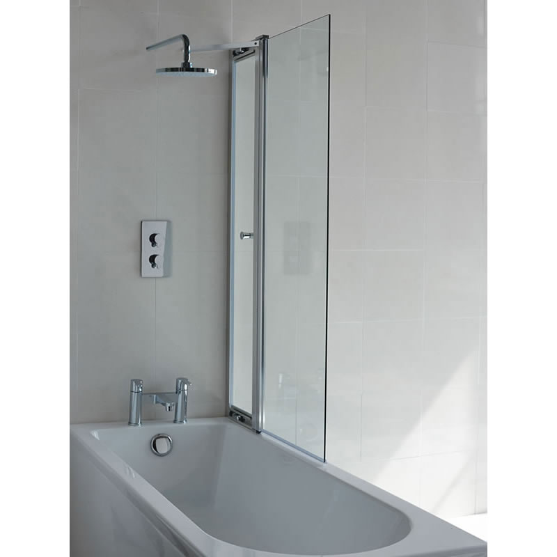 Britton Bathrooms - 850mm Bathscreen with Access Panel - BS3 Large Image