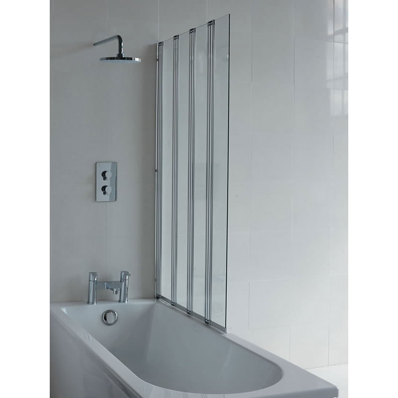 Britton Bathrooms - Four Panel Folding Bathscreen - BS5 profile large image view 1