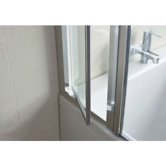 Britton Bathrooms - EcoSquare Bathscreen with Access Panel - Left or Right Hand Option profile large image view 3