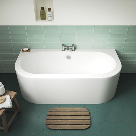 Nuie Shingle 1700mm Double Ended Back To Wall Bath - BSG003