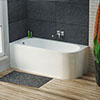 Hudson Reed Dahlia 1700 Eternalite Back To Wall Corner Bath + Panel profile small image view 1