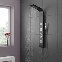 Maverick Tower Shower Panel (Thermostatic) - Black Medium Image