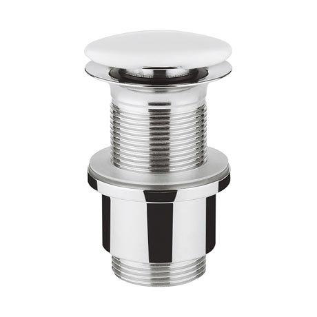 Bauhaus Unslotted Ceramic Basin Click Clack Waste - BSW0101GW