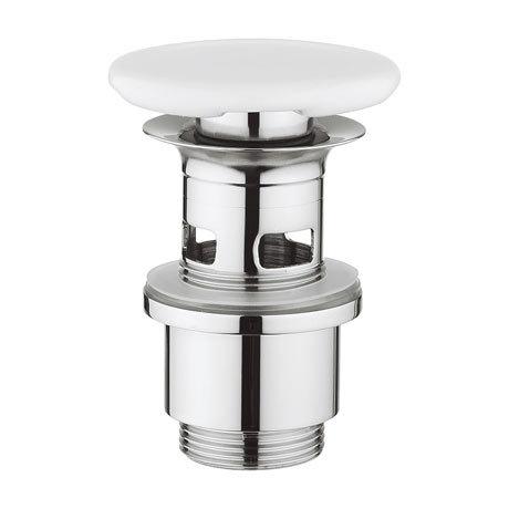 Bauhaus Slotted Ceramic Basin Click Clack Waste - BSW0103GW