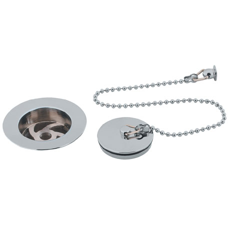 Bauhaus - Basin Waste with Solid Plug & Ball Chain - BSW0122C