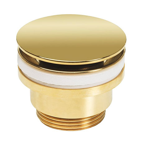 Crosswater Universal Basin Click Clack Waste - Unlacquered Brass - BSW0260Q