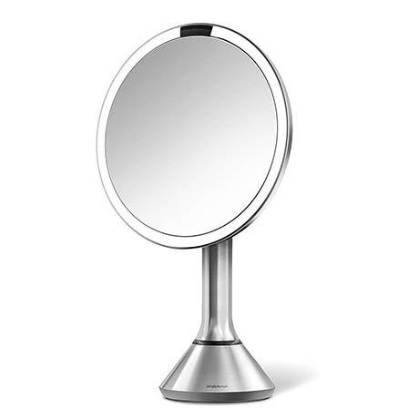 simplehuman Rechargeable Freestanding 20cm Cosmetic Sensor Mirror - BT1080