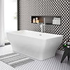 Windsor Mirage 1700 x 800mm Double Ended Freestanding Bath profile small image view 1