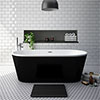 Windsor Brooklyn Black 1690 x 790mm Double Ended Freestanding Bath profile small image view 1